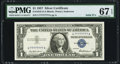 Small Size:Silver Certificates, Fr. 1619 $1 1957 Silver Certificate. Solid Serial Number 77777777. PMG Superb Gem Unc 67 EPQ.. ...