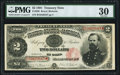 Large Size:Treasury Notes, Fr. 358 $2 1891 Treasury Note PMG Very Fine 30.. ...