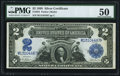 Large Size:Silver Certificates, Fr. 255 $2 1899 Silver Certificate PMG About Uncirculated 50.. ...