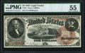 Large Size:Legal Tender Notes, Fr. 51 $2 1880 Legal Tender PMG About Uncirculated 55.. ...