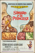 "Movie Posters:Fantasy, The 7th Voyage of Sinbad & Other Lot (Columbia, 1958). SpanishLanguage One Sheets (2) (27"" X 41"") & Trimmed Window Card(14... (Total: 3 Items)"
