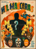 """Movie Posters:Action, Mil Mascaras (Columbia, 1969). Mexican One Sheet (26.75"""" X 36.25"""") Ruizo Artwork. Action.. ..."""