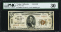 National Bank Notes:California, Yreka, CA - $5 1929 Ty. 2 The First NB Ch. # 13340 PMG Very Fine 30.. ...