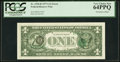Error Notes:Third Printing on Reverse, Third Printing on Back Error Fr. 1910-B $1 1977A Federal Reserve Note. PCGS Very Choice New 64PPQ.. ...
