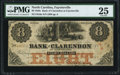 Fayetteville, NC- Bank of Clarendon at Fayetteville $8 Nov. 1, 1855 G6a PMG Very Fine 25