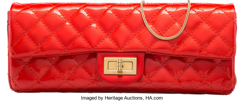 3a1aae808fd1 Condition; Luxury Accessories:Bags, Chanel Red Quilted Patent Leather East  West Reissue Clutch.