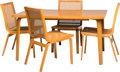 Furniture , A Five-Piece Clifford Pascoe Dining Suite, mid-20th century. 28 x 54 x 36 inches (71.1 x 137.2 x 91.4 cm) (table). ... (Total: 5 Items)