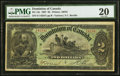 Canadian Currency, Canada Dominion of Canada $2 July 2nd, 1897 Ch. # ...