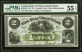 Canadian Currency, Charlotte Town, PEI- The Bank of Prince Edward Island $2 1.1.1877Ch # 600-12-08 PMG About Uncirculated 55 EPQ.. ...