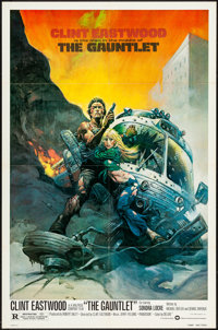 "The Gauntlet (Warner Brothers, 1977). One Sheet (27"" X 41"") Frank Frazetta Artwork. Action"