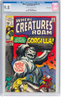 Bronze Age (1970-1979):Horror, Where Creatures Roam #5 Bowling Green Pedigree (Marvel, 1971) CGCNM/MT 9.8 Off-white to white pages....