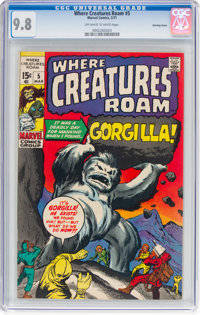 Where Creatures Roam #5 Bowling Green Pedigree (Marvel, 1971) CGC NM/MT 9.8 Off-white to white pages