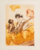 Louis Icart (French, 1888-1950) Le Sopha, 1935 Aquatint in colors on paper 6-1/2 x 4-1/2 inches (16.5 x 11.4 cm) Sig