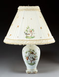 Decorative Arts, Continental:Lamps & Lighting, A Herend Rothschild Bird Pattern Porcelain Lamp with Shade,Herend, Hungary, 20th century. Marks: HEREND HUNGA...
