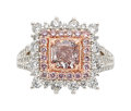 Estate Jewelry:Rings, Fancy Brownish Purplish Pink Diamond, Diamond, Platinum, Rose Gold Ring, Tremonti. ...