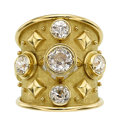 Estate Jewelry:Rings, Diamond, Gold Ring, Elizabeth Gage, English. ...