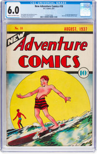 New Adventure Comics #18 (DC, 1937) CGC FN 6.0 Cream to off-white pages