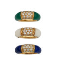 Estate Jewelry:Rings, Multi-Stone, Gold Rings, Van Cleef & Arpels, French. ... (Total: 3 Items)