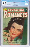 Golden Age (1938-1955):Romance, Revealing Romances #3 (Ace Magazines, Inc., 1950) CGC VG/FN 5.0Off-white to white pages....