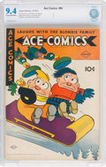 Golden Age (1938-1955):Miscellaneous, Ace Comics #95 (David McKay Publications, 1945) CBCS NM 9.4 Cream to off-white pages....