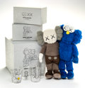 Other, KAWS (b. 1974). Seeing/Watching, 2018. Four glasses and one plush toy. 15-1/2 x 12 x 3-1/2 inches (39.4 x 30.5 x 8.9 cm)... (Total: 3 Items)