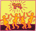 Prints & Multiples, Keith Haring (1958-1990). One Plate, from The Fertility Suite, 1983. Screenprint in colors on wove paper. 42 x 49-1/...
