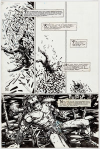Barry Windsor-Smith Giant Size Rune #1 Story Page 7 Original Art (Malibu, 1995)