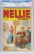 Golden Age (1938-1955):Romance, Nellie the Nurse #17 (Timely/Marvel, 1949) CGC FN+ 6.5 Off-white towhite pages....