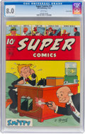 Golden Age (1938-1955):Miscellaneous, Super Comics #78 Central Valley Pedigree (Dell, 1944) CGC VF 8.0 White pages....