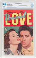 Golden Age (1938-1955):Romance, Personal Love #1 (Famous Funnies Publications, 1950) CBCS ConservedVF/NM 9.0 Off-white to white pages....