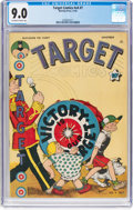 Golden Age (1938-1955):Miscellaneous, Target Comics V4#7 (Novelty Press, 1943) CGC VF/NM 9.0 Off-white to white pages....