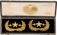 Confederate General's Collar Insignia in Original Case