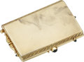 Estate Jewelry:Boxes, Sapphire, Gold Compact. ...