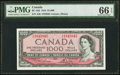 Canadian Currency, BC-44d $1000 1954 PMG Gem Uncirculated 66 EPQ.. ...