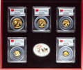"China, China: People's Republic 6-Piece Certified gold Prestige ""First Strike"" Panda Set 2015 MS69 PCGS,... (Total: 6 items)"