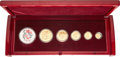 China, China: People's Republic 6-Piece gold & silver Lunar Prestige Panda Set 2005 UNC,... (Total: 6 coins)