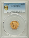 1910 $2 1/2 MS63+ PCGS Secure. PCGS Population: (840/630 and 8/32+). NGC Census: (1435/972 and 14/29+). CDN: $650 Whsle...