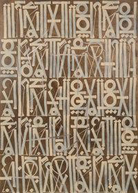 RETNA (American, b. 1979) Untitled, n.d. Acrylic on canvas 84 x 60 x 2-1/2 inches (213.4 x 152.4