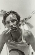 Photographs, Attributed to Ed Templeton (b. 1972). Untitled (Teenage boy smoking), n.d.. Gelatin silver. 12-1/2 x 8-1/4 inches (31.8 ...