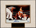 Boxing Collectibles:Autographs, Muhamad Ali Signed Matted Photograph....