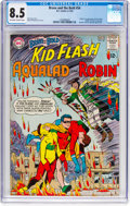 Silver Age (1956-1969):Superhero, The Brave and the Bold #54 Kid Flash, Robin, and Aqualad (DC, 1964)CGC VF+ 8.5 Off-white to white pages....
