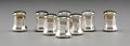 Silver Holloware, French:Holloware, Four Pairs of Cartier Silver Salt and Pepper Shakers in OriginalFitted Boxes, Paris, 20th century. Marks: Cartier, STERLI...(Total: 8 Items)