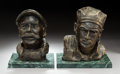 Fine Art - Sculpture, American, R. Tayo (American, 20th Century) after Peter Helck (1893-1988).A Dirt Chauffer and George Heath, Winner of Vanderbilt...(Total: 2 Items)