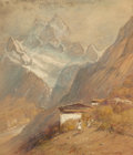 Works on Paper, Samuel Colman (American, 1832-1920). In the Himalayas. Watercolor on paper. 9-1/2 x 8 inches (24.1 x 20.3 cm) (image). S...