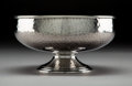 Silver Holloware, American:Bowls, A Whiting Aesthetic Movement Partial Gilt Silver Hand-HammeredBowl, New York, circa 1880. Marks: STERLING, (W-griffin),...