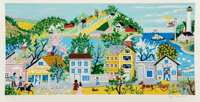 Kay Ameche (1904-2005) Ft. Point, San Francisco, CA, 1981 Serigraph in colors on paper 12-1/4 x 2