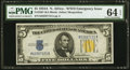 Small Size:World War II Emergency Notes, Fr. 2307 $5 1934A North Africa Silver Certificate. PMG Choice Uncirculated 64 EPQ.. ...