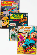 Silver Age (1956-1969):Superhero, Action Comics Group of 62 (DC, 1967-76) Condition: AverageVG/FN.... (Total: 62 Comic Books)