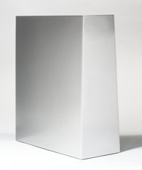 John McCracken (1934-2011) Atum, 1988 Stainless steel 20 x 18 x 5-1/2 inches (50.8 x 45.7 x 14.0