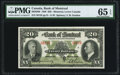 Canadian Currency, Canada Montreal, PQ- Bank of Montreal $20 Jan. 3, 1938 Ch. #505-62-06 PMG Gem Uncirculated 65 EPQ.. ...